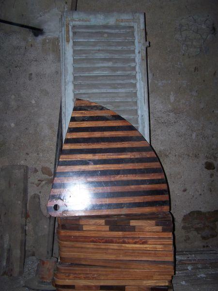 marches bois escalier colimaçon